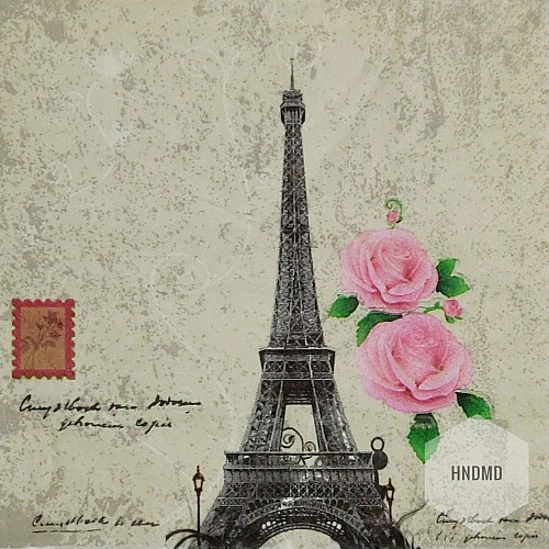 A pack of 12 by 12 inch Decoupage Napkins (5 pcs)  - Paris