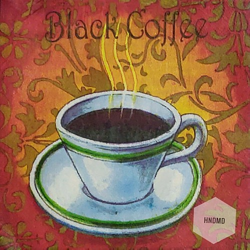 A pack of 12 by 12 inch Decoupage Napkins(5 pcs)  - Coffee Time
