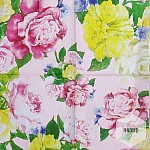 A pack of 12 by 12 inch Decoupage Napkins(5 pcs)  - Pink Rose
