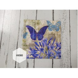 A pack of 12 by 12 inch Decoupage Napkins / Decoupage Tissues (5 pcs)  - Blue Butterflies