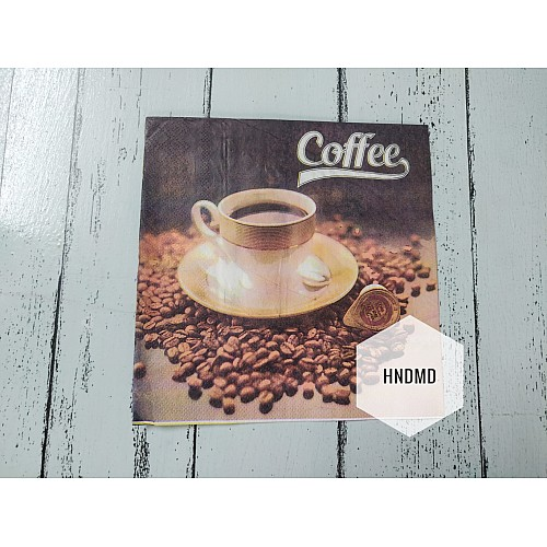A pack of 12 by 12 inch Decoupage Napkins / Decoupage Tissues (5 pcs)  - Coffee Break