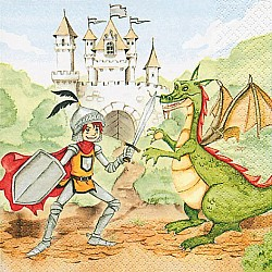 A pack of 12 by 12 inch German Decoupage Napkins ( 5 pcs )  - Train you Dragon