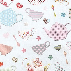 A pack of 12 by 12 inch German Decoupage Napkins ( 5 pcs )  - Cute Cups