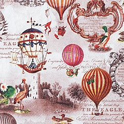 A pack of 12 by 12 inch German Decoupage Napkins ( 5 pcs )  - Vintage Balloons