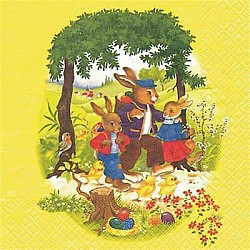 A pack of 12 by 12 inch Decoupage Napkins ( 5 pcs )  - Bunny Stories