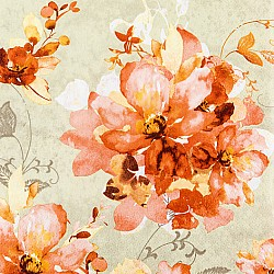 A pack of 12 by 12 inch Decoupage Napkins ( 5 pcs )  -  Ofelia Orange