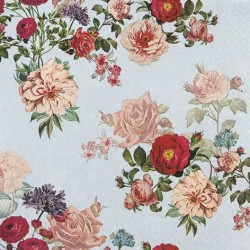 A pack of 12 by 12 inch German Decoupage Napkins ( 5 pcs )  - Elizabeth Florals