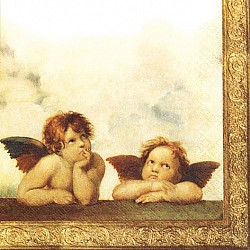 A pack of 12 by 12 inch Decoupage Napkins ( 5 pcs )  - Angel Babies