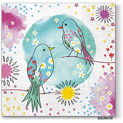 A pack of 12 by 12 inch Decoupage Napkins(5 pcs)  - Welcome to Paradise