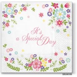 A pack of 13 by 13 inch Decpoupage Napkin Paper (SDL063100) - Set of 5 pcs