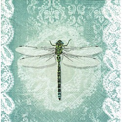 A pack of 12 by 12 inch Decoupage Napkins(5 pcs)  - Dragonfly