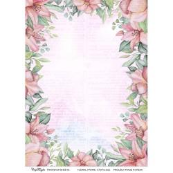 CrafTangles Transfer It Sheets - Floral Frame Background 1