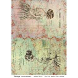 CrafTangles Transfer It Sheets - Vintage Ladies 1