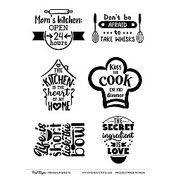 CrafTangles Transfer It Sheets - My Kitchen