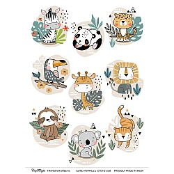 CrafTangles Transfer It Sheets - Cute Animals 1
