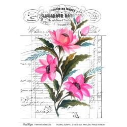CrafTangles Transfer It Sheets - Floral Script 1