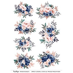 CrafTangles A4 Transfer It Sheets - Spring Flowers 3