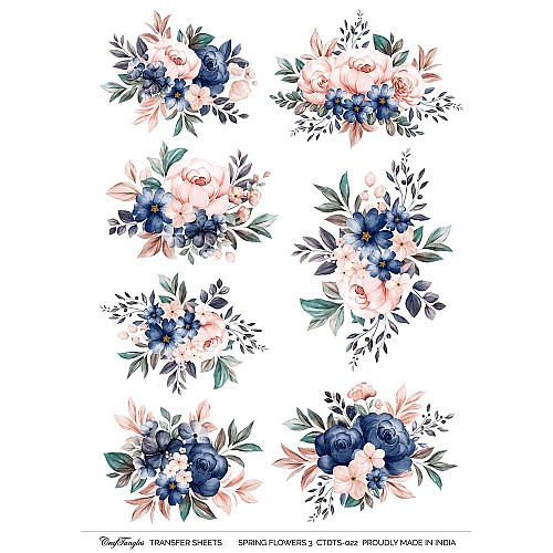 CrafTangles Transfer It Sheets - Spring Flowers 3