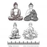 CrafTangles A4 Transfer It Sheets - Buddha
