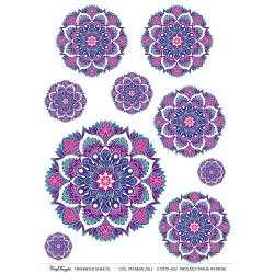 CrafTangles A4 Transfer It Sheets - Colourful Mandalas 1