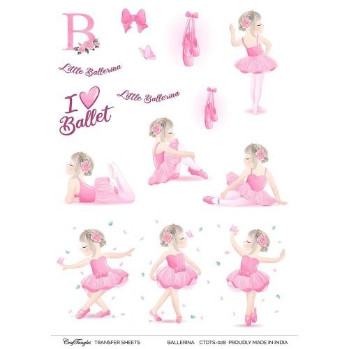 CrafTangles A4 Transfer It Sheets - Ballerina