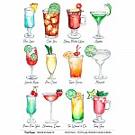 CrafTangles A4 Transfer It Sheets - Cocktails