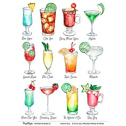 CrafTangles Transfer It Sheets - Cocktails