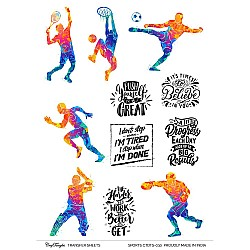 CrafTangles A4 Transfer It Sheets - Sports