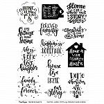 CrafTangles A4 Transfer It Sheets - Quotes - Home Sweet Home