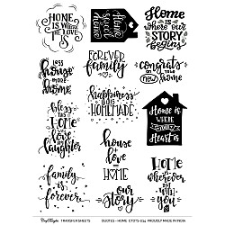 CrafTangles Transfer It Sheets - Quotes - Home Sweet Home