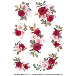 CrafTangles A4 Transfer It Sheets - Spring Flowers 4