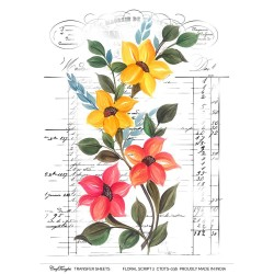 CrafTangles Transfer It Sheets - Floral Script 2
