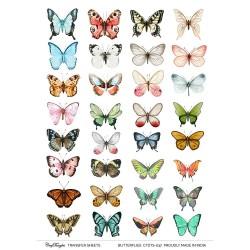CrafTangles Transfer It Sheets - Butterflies