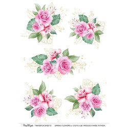 CrafTangles A4 Transfer It Sheets - Spring Flowers 5