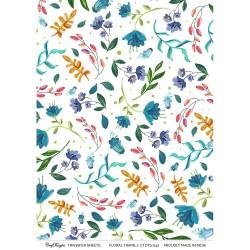 CrafTangles Transfer It Sheets - Floral Frame Background 2