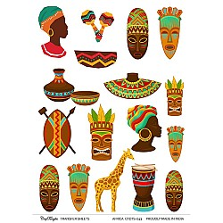 CrafTangles Transfer It Sheets - African People