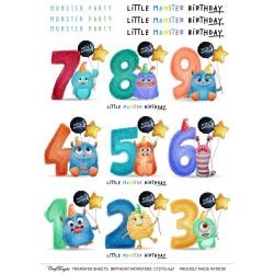 CrafTangles Transfer It Sheets - Birthday Monsters
