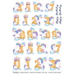 CrafTangles Transfer It Sheets - Birthday Unicorns
