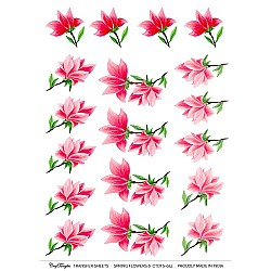 CrafTangles A4 Transfer It Sheets - Spring Flowers 6