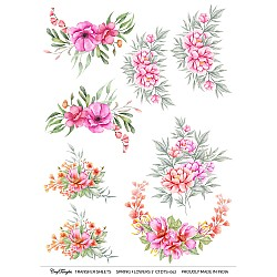 CrafTangles A4 Transfer It Sheets - Spring Flowers 7