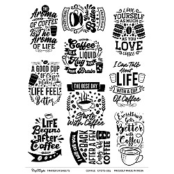 CrafTangles A4 Transfer It Sheets - Coffee
