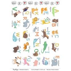 CrafTangles A4 Transfer It Sheets - Fun Alphabets