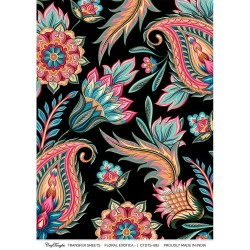 CrafTangles A4 Transfer It Sheets - Floral Exotica 1