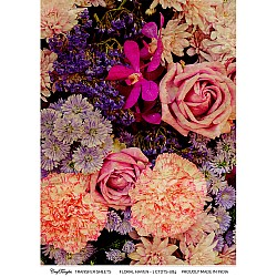 CrafTangles A4 Transfer It Sheets - Floral Haven 1
