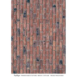 CrafTangles A4 Transfer It Sheets - Textures - Brick Wall