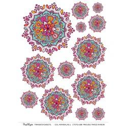 CrafTangles A4 Transfer It Sheets - Colorful Mandalas 3