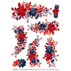 CrafTangles A4 Transfer It Sheets - Spring Flowers 10