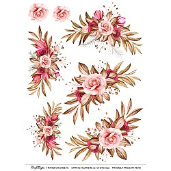 CrafTangles A4 Transfer It Sheets - Spring Flowers 12