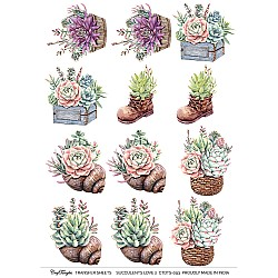 CrafTangles A4 Transfer It Sheets - Succulents Love 2