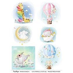 CrafTangles A4 Transfer It Sheets - Cute Animals 4